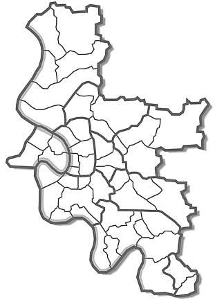 Düsseldorf Stadtteile Karte.Umzug Düsseldorf